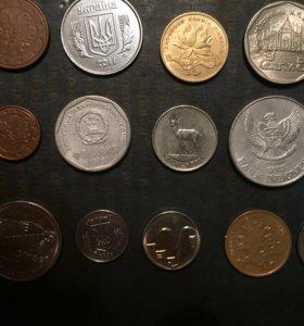 Разные иностранные монеты