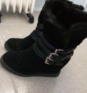 Замшевые ботинки,размер 38