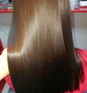 Кератиновое выпрямление волос, лечение, нанопл-ка