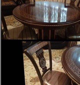 """Стол и стулья """"Версаче"""""""
