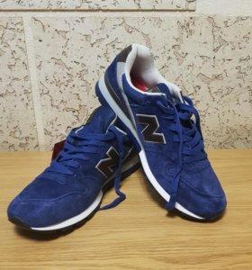 Кроссовки NВ замшевые синие