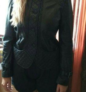 Куртка Zara натур.кожа
