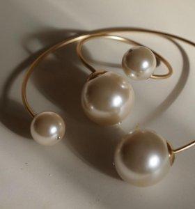 Бижутерия Mise en Dior: колье, браслет, пусеты