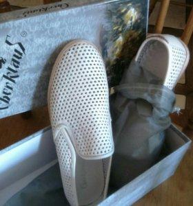 Мужские летние ботинки  42 р-р, кожаные полностью