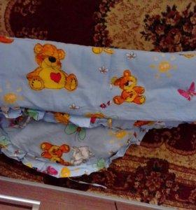 Бортики на кроватку детскую