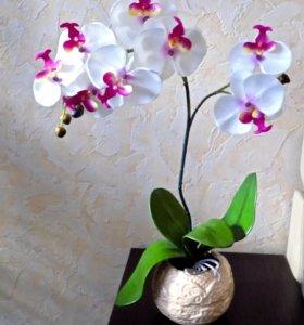 орхидея искусственная, подарки ручной работы