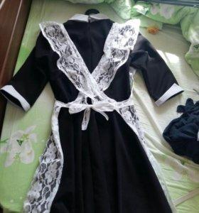 Платье и фартук на первое сентября