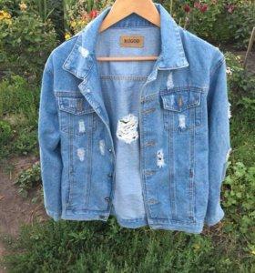 новая джинсовка из плотного денима
