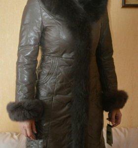 Пальто кожанное (плащ, пуховик) натуральной кожи