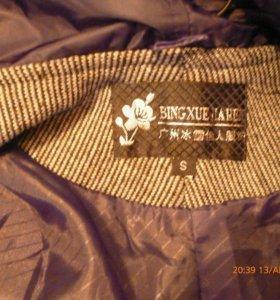 Куртка,машинная вязка с подкладом,на сентябрь.