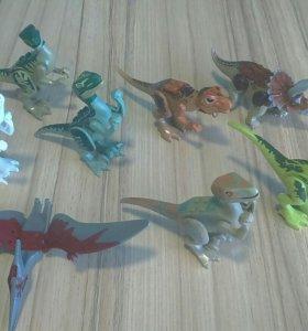Лего динозавры