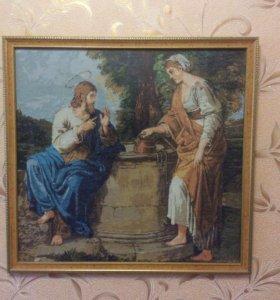 Картина вышита крестиком