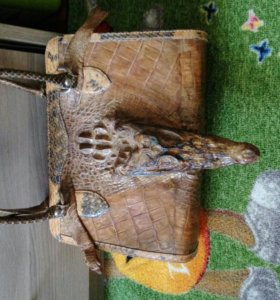 Сумка из кожи крокодила и питона