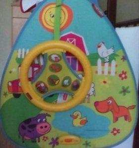 Интерактивная игрушка с рулем tini love и подарок