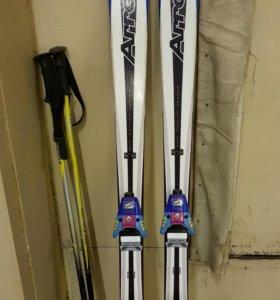Горные лыжи. Комплект.