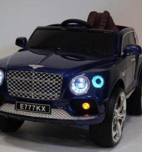 Детский электромобиль Bentley синий