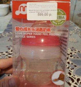 Бутылочка с силиконовой ложкой