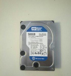 Жесткий диск на 500GB HDD SATA