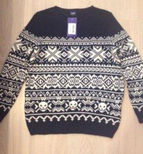 Шерстяной свитер 54 размер
