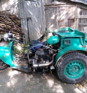 Трактор ручной сборки