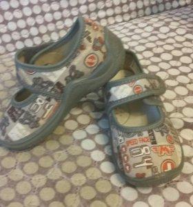Туфли текстильные Капика