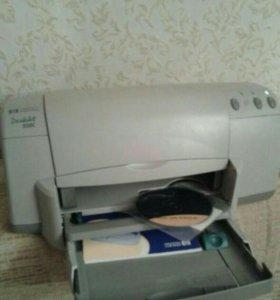 Принтер рабочий без сканера, цветной