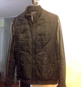 кожаная мужская куртка Trussardi jeans (оригинал)