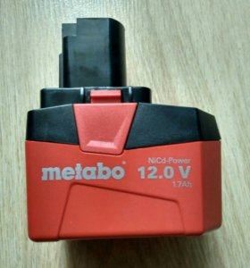 Аккумулятор metabo 12v 1.7ah
