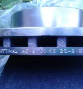 Диски тормозные вентилируемые. OPTIMAL BS_8182.