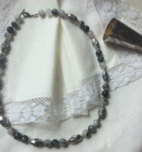 Бусы «Старинное серебро»