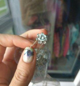 Шпильки цветы для украшения волос, свадебные