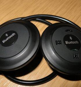 Блютуз наушники-гарнитура, +радио +MP3