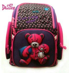 Новый школьный ранец для девочки