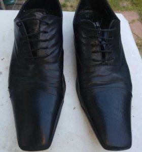 Туфли Итальянские кожаные Б/У