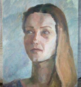 Живопись портрет девушки