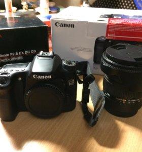 Продам Canon 70d + Sigma 17-50mm 2.8