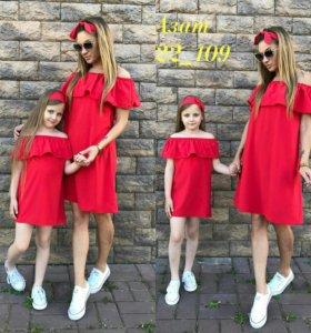 Платье новое мама+дочь