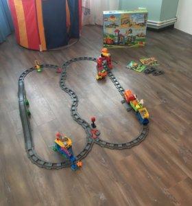 Lego Duplo 10508 Большой поезд + доп. рельсы