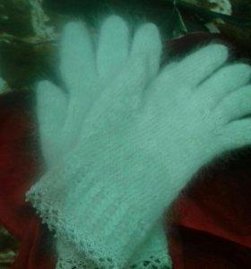 Перчатки из шерсти собаки