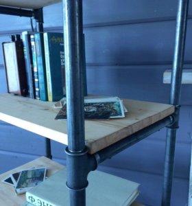 Шкаф стеллаж в стиле лофт