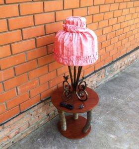 Настольная лампа кованная