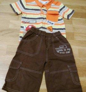 Летний костюм на мальчика в садик р. 80-86