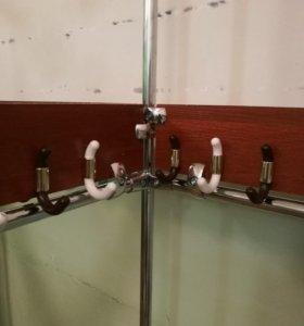 Конструкции из хромированных труб