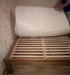продаю кровать и матрас из массива