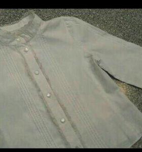 Блузки детские для девочки р122-128-136 (рубашки)