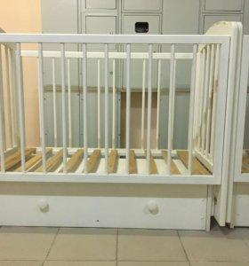 Кроватка детская Ксюша +матрац
