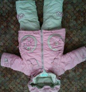 Зимний полукомбинизон и курточка Кико