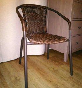 Стул/кресло, металл+ротанг искусственный
