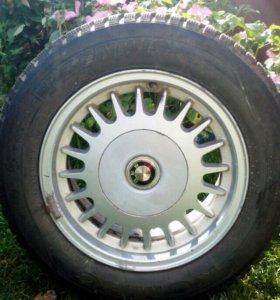 Колеса в сборе (зима) для Е34 (ориг.литые диски)