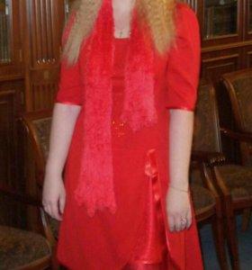Платье+палантин ~52-56